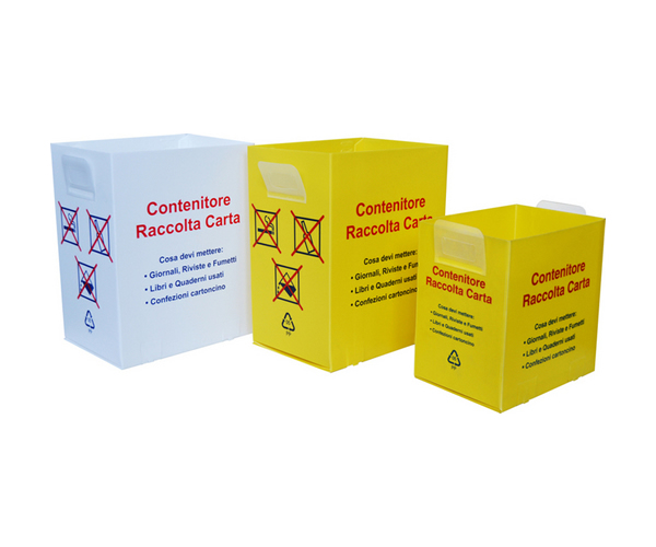 Contenitori in polipropilene per raccolta carta